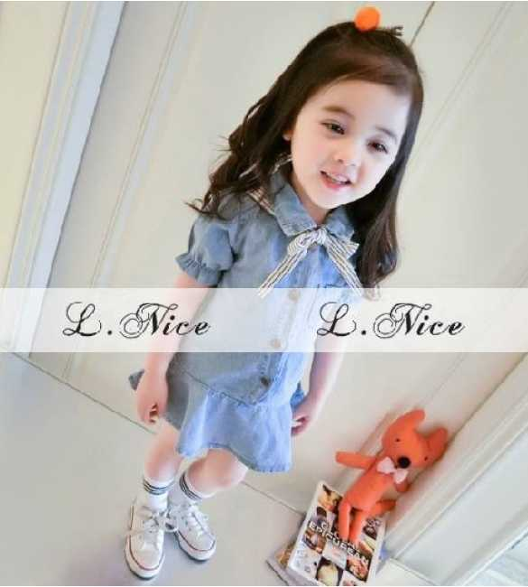 Dress Anak Blue Jeans L Nice